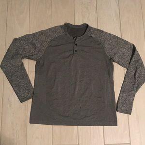 Lululemon Henley Workout Shirt Men's Medium